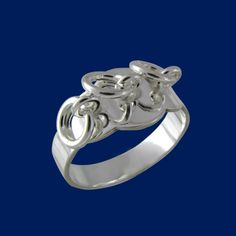Lapland's ring with small silver rings that bring good luck to its wearer. According to tradition the number of the rings has to be uneven.