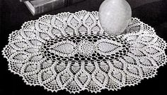 Jeego Crochet: Oval Pineapple Doily