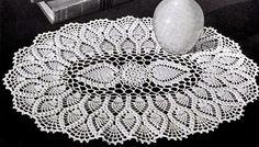 Jeego Crochet: Oval Pineapple Doily