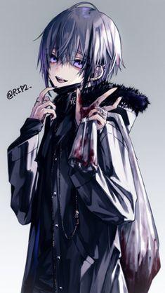 Anime Demon Boy, Anime Angel, Dark Anime Guys, Cool Anime Guys, Handsome Anime Guys, Hot Anime Boy, Blue Anime, Anime Girls, Yandere Boy