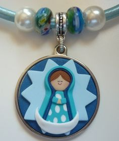 Virgencita de la Estrella Oreo Cupcakes, Pasta Flexible, Biscuit, Bracelet Watch, Polymer Clay, Angeles, Pendant, Jewelry, Plastic Resin