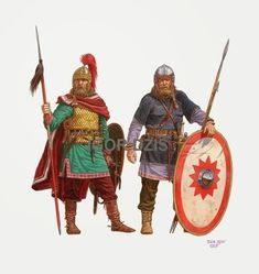 Alemannic infantry and cavalry 4th century AD