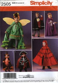 simplicity 2505 childs costume