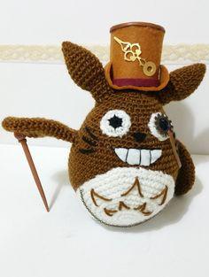 TOTORO STEAMPUNK 8'' miyazaki victorian ghibli gift por Kutuleras