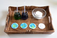 Montessori Inspired Activities for Earth Science Montessori Trays, Montessori Practical Life, Montessori Preschool, Earth Day Activities, Science Activities, Earth For Kids, Earth Layers, Homemade Playdough, Earth Science