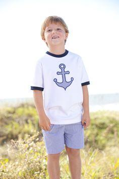 boys anchors away tshirt