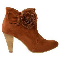 SACHA // Bruin enkellaarsje  €59,95 - Brown woman boots