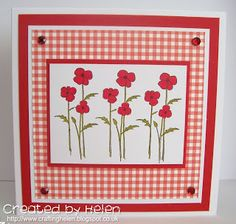 New Little Claire Dinkies stamp - Poppies Poppy Cards, Claire, Cardmaking, Poppies, My Favorite Things, How To Make, Handmade, Inspiration, Card Ideas