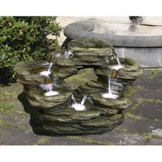 Found it at Wayfair - Polyresin Multilevel Rock Fountain