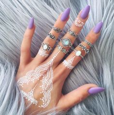 White Henna Tattoos – Style 2 | BohoMoon