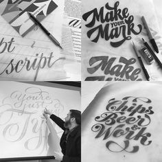 Our very own @r3do & @sindinosaurio represented the @vault49 team at Ken Barbers @typelettering workshop this weekend at Cooper Union NY #font #typography #design by vault49