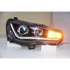 MITSUBISHI LANCER HEADLIGHT (LED) – Motowey Lancer 2008, Projector Lens, Evo X, Led Tail Lights, Mitsubishi Lancer, Led Headlights, Save Energy