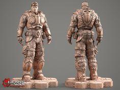 Gears of War - Baird clay model., Kamil Kozlowski on ArtStation at http://www.artstation.com/artwork/gears-of-war-baird-clay-model