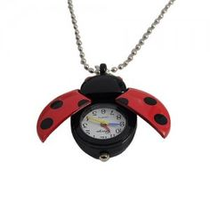 Pocket Watch Ladybug - Red