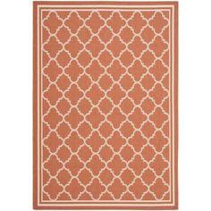 Safavieh Poolside Terracotta/ Bone Indoor Outdoor Rug (5'3 x 7'7) - Overstock Shopping - Great Deals on Safavieh 7x9 - 10x14 Rugs