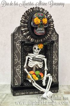 Alpha Stamps News » NEW Sugar Skull Art Swap (and a riot of color)!