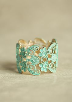 Mint cuff? Why yes...thank you. Divine decadence on the wrist:)
