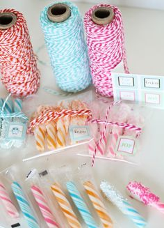 Dipped candy sticks + baker's twine = a sweet goodbye!