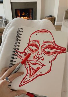 Cool Art Drawings, Art Drawings Sketches, Indie Drawings, Kunst Inspo, Art Inspo, Art Journal Inspiration, Arte Grunge, Hippie Painting, Arte Sketchbook