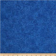 """110"""" Wide Flannel Quilt Back Willow Royal"""