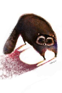 Raccoon art  by neikoart.com