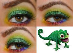 Tangled's Pascal Disney Inspired Makeup