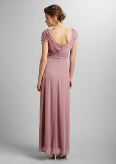 ALEX EVENINGS  Pleated Empire Waist Gown (back)