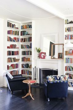 Nice 20 Cozy Small Library Ideas For Your Home https://decoratio.co/2018/01/30/small-library-ideas/ For a reading lover, having your own small library at home is actually a great idea. Your books will have their own places and not scattered all over the floor.