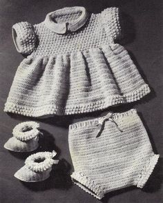 Crochet Pebble Pattern Set for a Baby Girl – Grandmother's Pattern Book