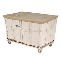 Best Value 12 Bushel Canvas Basket Bulk Truck #GlobalIndustrial