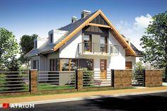 Projekt domu z poddaszem SZERYL II - wizualizacja 1