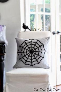 DIY Spider Web Pillow