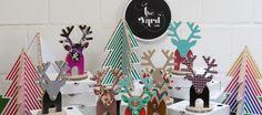 diy cardboard reindeers & trees from the yard ink! #handmade #australia