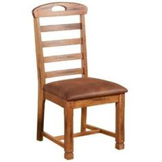 Check out the Sunny Designs 1418RO-CT Sedona Ladder Back Chair in Rustic Oak - Set of 2