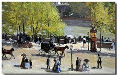 Claude Monet (1840-1926) - Quai du Louvre, Paris.