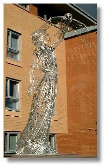 """""""Athena"""", sculpture by Andy Scott , Glasgow's Yorkhill area"""