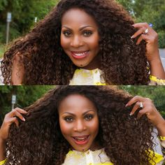 #TransformationTuesday  Just because the weather is transitioning, doesn't mean your curls have to as well!  #ONYCHair has the shades of Fall with our Golden Collection #hair, like this #ONYCBeauty fallen for her Curly Addiction 3B Colors 2 and 4   Shop USA Now>>> ONYCHair.com Shop UK Now>>> ONYCHair.uk