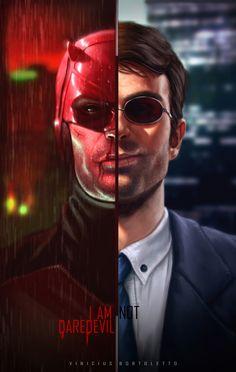 """#Marvel:Daredevil  Daredevil(Matt Murdock) <3  """"I AM NOT DAREDEVIL""""  ArtStation - I AM not DAREDEVIL, Vinicius Bortoletto"""
