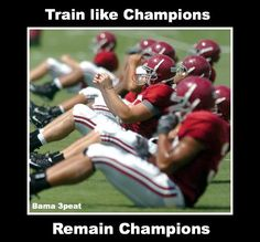 Ab workouts in Uniform! If Alabama can do them, so can you in workout clothes! Like seriously. Crimson Tide Football, Alabama Football, Alabama Crimson Tide, Alabama Baby, Football Program, University Of Alabama, Roll Tide, Champion, Sports