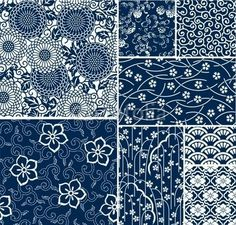traditionele Japanse naadloze vector patronen