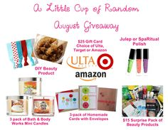Enter to win $75 worth of beauty products and other goodies from A Little Cup of Random - http://wp.me/p3J42W-g8
