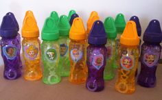 Party Favors: Bubbles for the little guppies! (Dollar store bubbles...I peeled off the labels & added Bubble Guppies stickers)