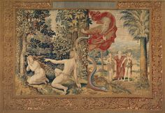 God Accuses Adam and Eve after the Fall, 1548 by Pieter Coecke Van Aelst on Curiator, the world's biggest collaborative art collection. Medieval Tapestry, Digital Museum, Tapestry Design, Collaborative Art, Grand Designs, Illuminated Manuscript, Ancient Art, Metropolitan Museum, Architectural Digest