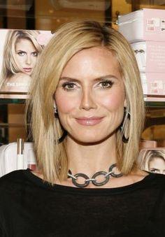 19 Classic Medium Haircuts for Women: Get Heidi Klum's Look With a Flat Iron