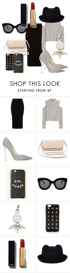 """Just be different :-)"" by dzenita-219 on Polyvore featuring Mat, Jimmy Choo, Charlotte Russe, CÉLINE, Alexander Wang, J.Crew, Chanel, women's clothing, women and female"