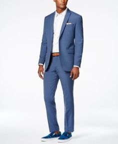 Bar III Men's Dusty Blue Solid Slim-Fit Suit Separates, Only at Macy's $99.99 For all-day comfort and style, reach for this dusty blue slim-fit suit from Bar III.