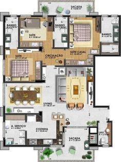 Best 12 3 bedroom latest home plan with modular kitchen Floo House Plans Mansion, Dream House Plans, Small House Plans, House Floor Plans, House Layout Plans, House Layouts, Circle House, Architectural House Plans, Model House Plan