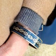 Hermes Chaine d'ancre enamel bracelet