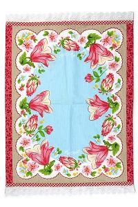 PiP Theedoek Flower Border Blauw