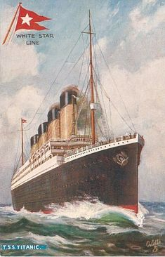 One of The Postcards given out to 3rd class titanic pasengers.